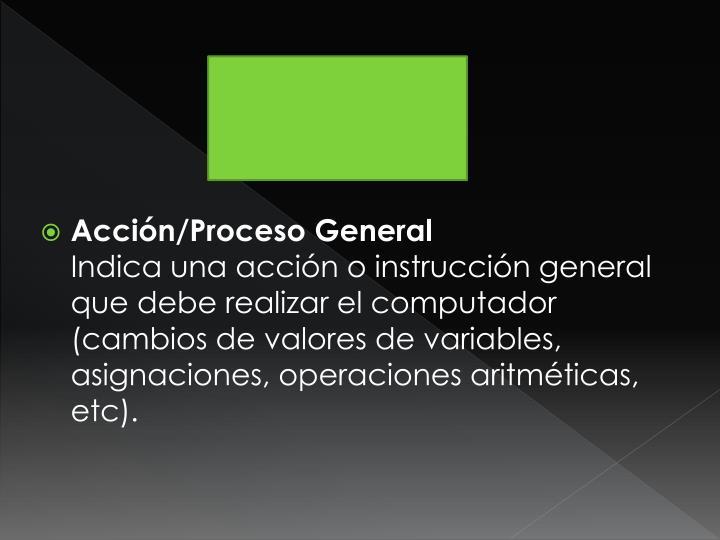 Acción/Proceso General