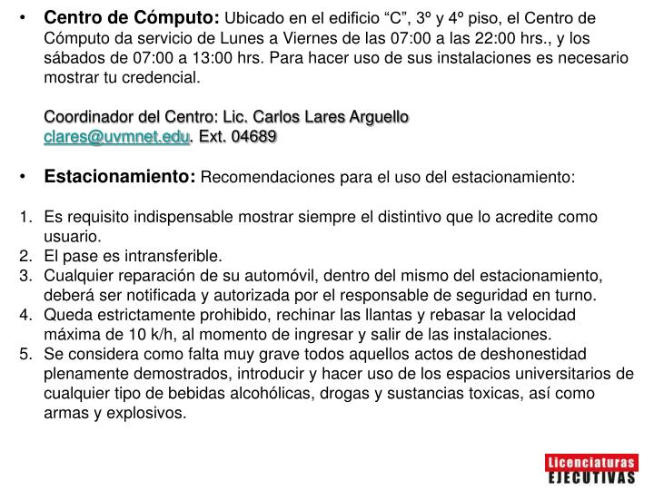 Centro de Cómputo: