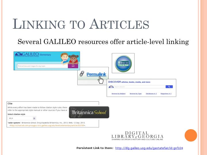 Linking to Articles