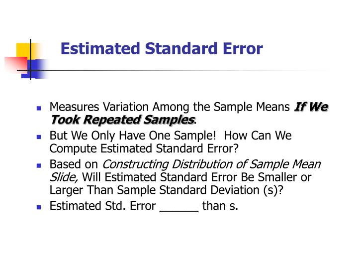 Estimated Standard Error