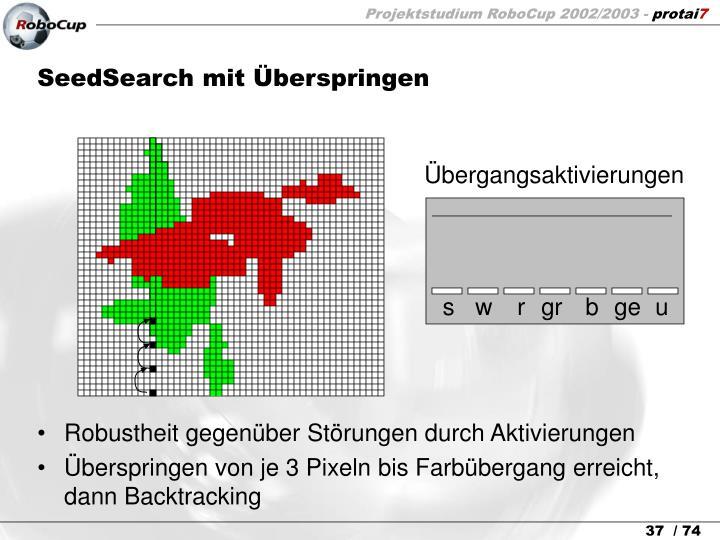 SeedSearch mit Überspringen