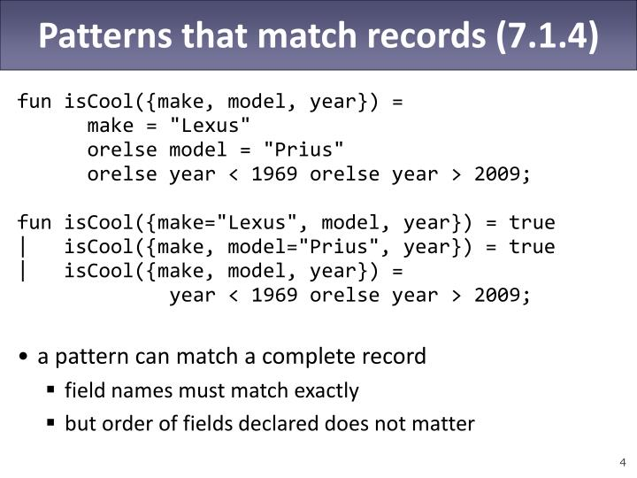 Patterns that match records (7.1.4)