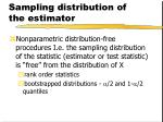 sampling distribution of the estimator1