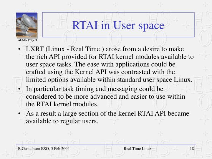 RTAI in User space