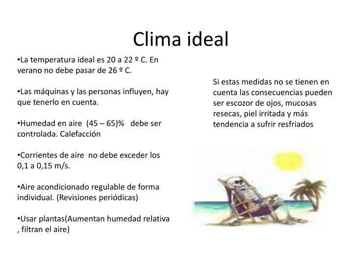 Clima ideal
