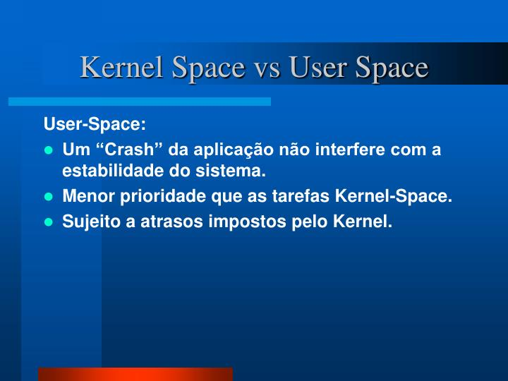 Kernel Space vs User Space