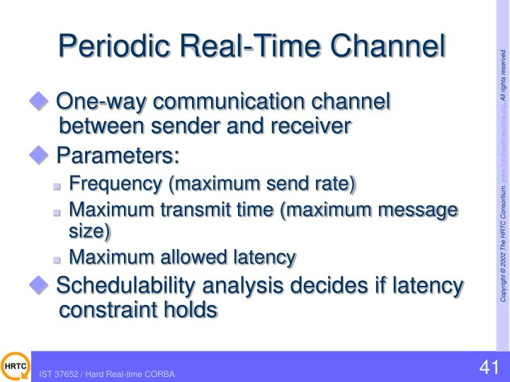 Periodic Real-Time Channel