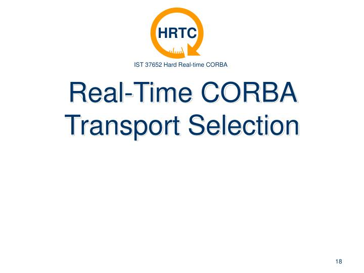 Real-Time CORBA Transport Selection