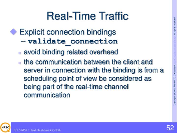 Real-Time Traffic