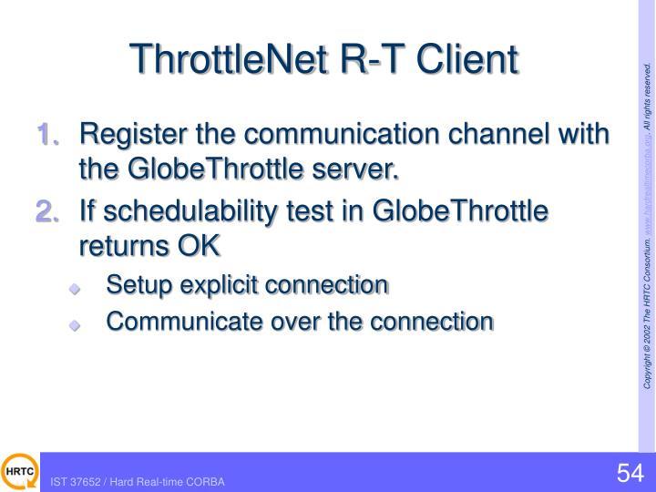ThrottleNet R-T Client