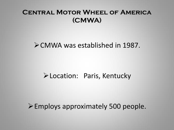 Central Motor Wheel of America