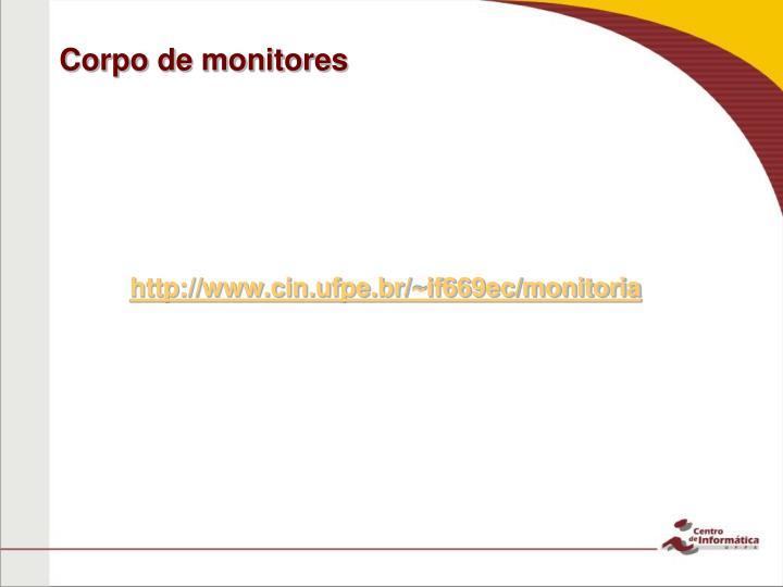 Corpo de monitores