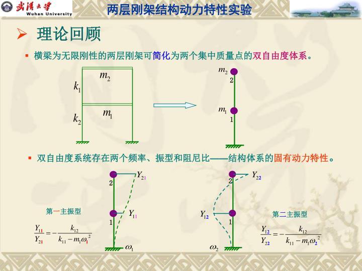 两层刚架结构动力特性实验