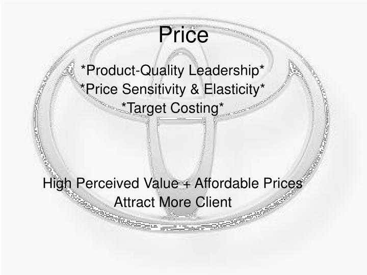 *Product-Quality Leadership*
