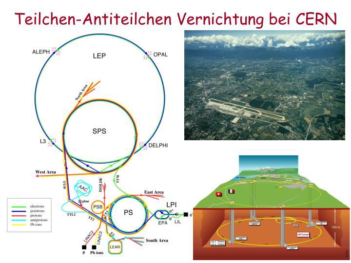 Teilchen-Antiteilchen Vernichtung bei CERN