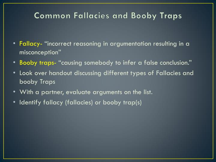 Common Fallacies and Booby Traps