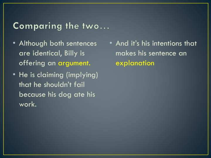 Comparing the two…