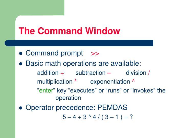 The Command Window