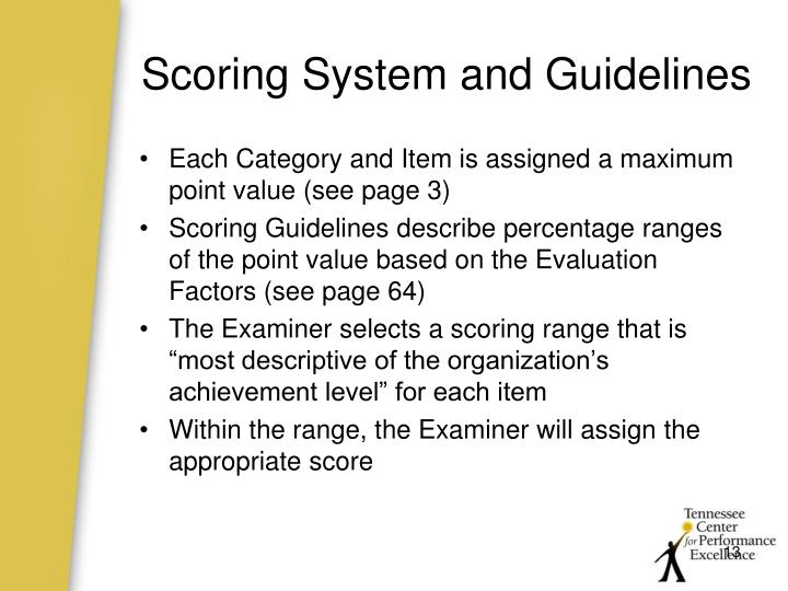 Scoring System and Guidelines