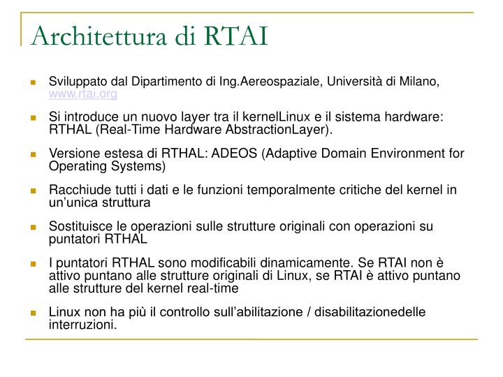 Architettura di RTAI