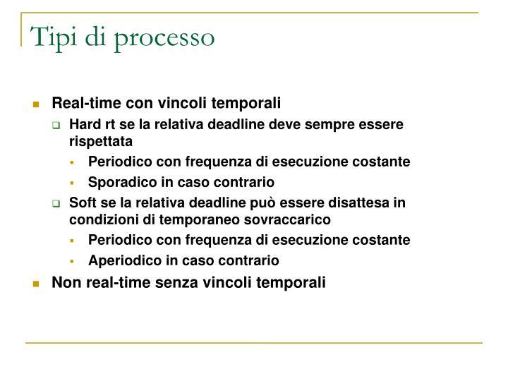 Tipi di processo