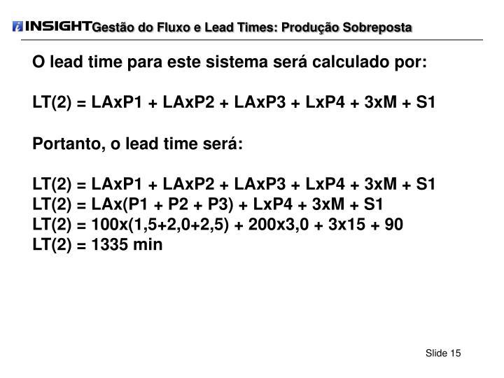 Gestão do Fluxo e Lead Times: Produção Sobreposta