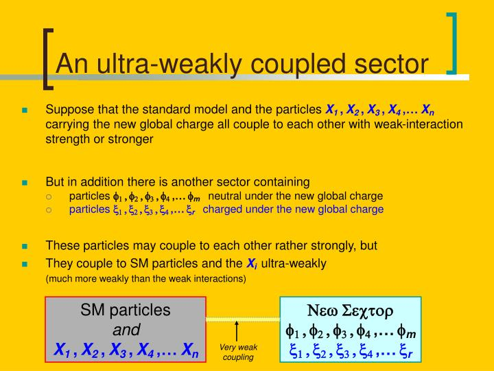 An ultra-weakly coupled sector