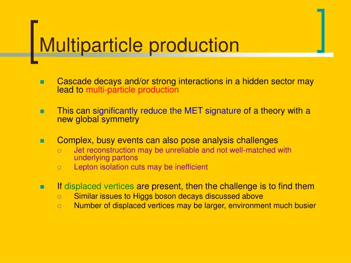 Multiparticle production