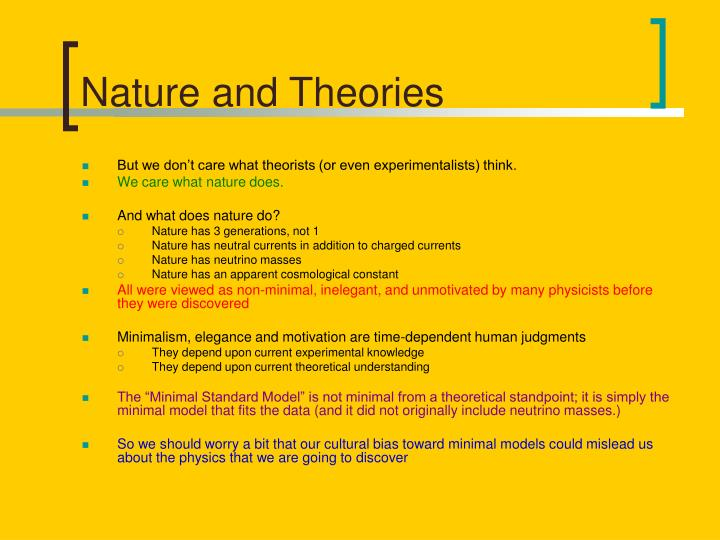 Nature and Theories