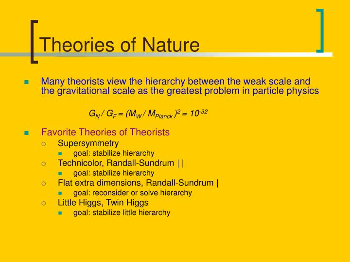 Theories of nature
