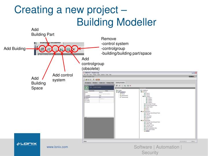 Creating a new project –