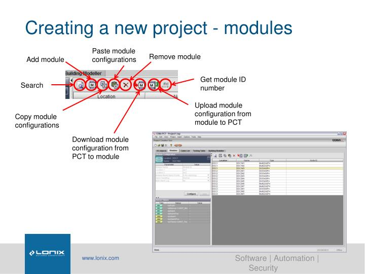 Creating a new project - modules