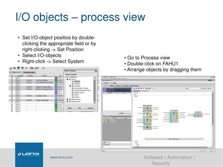 I/O objects – process view