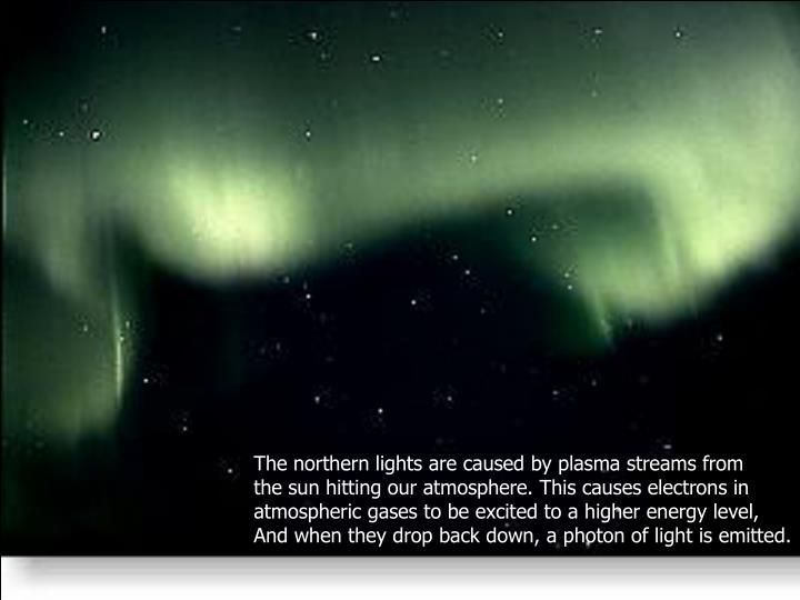 The northern lights are caused by plasma streams from