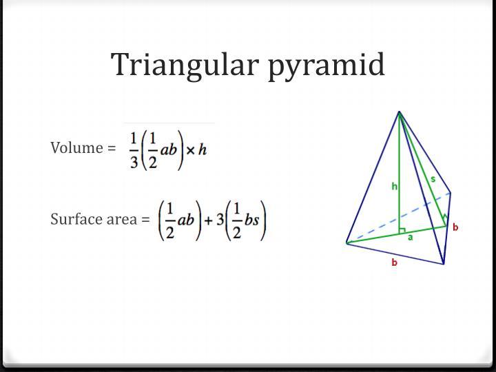 Triangular pyramid