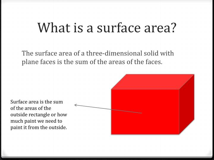 What is a surface area?