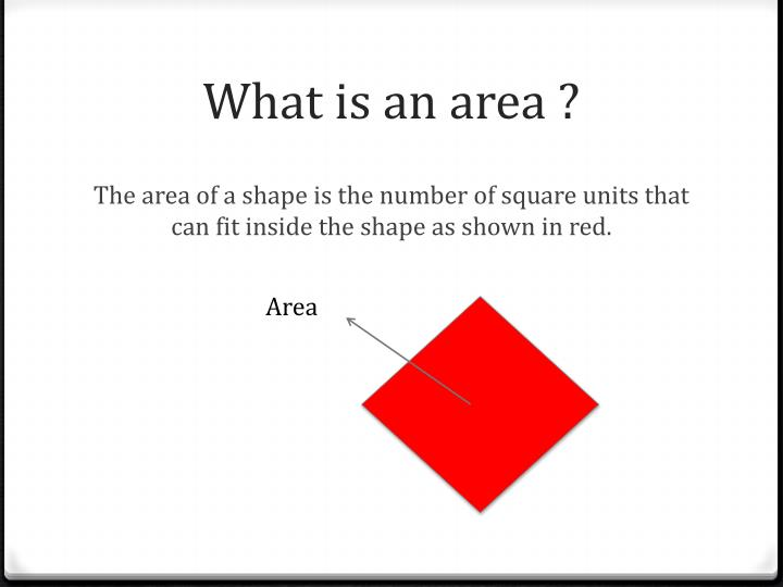 What is an area ?