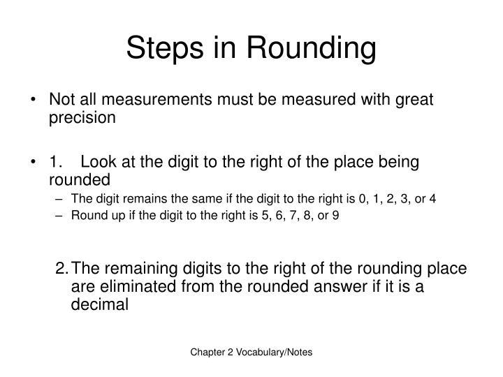 Steps in Rounding