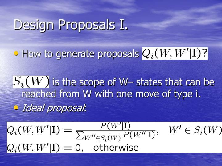 Design Proposals I.