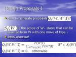 design proposals i