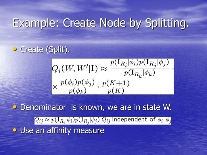 Example: Create Node by Splitting.