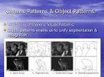 generic patterns object patterns