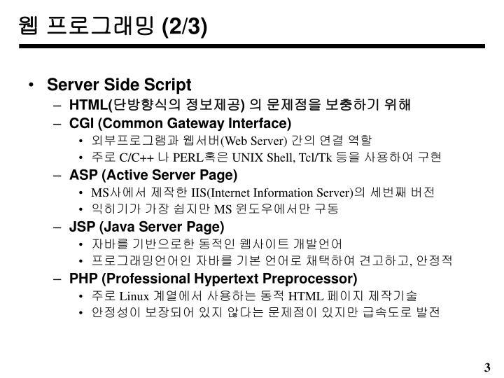 웹 프로그래밍