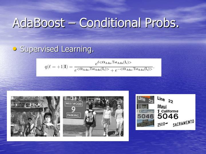 AdaBoost – Conditional Probs.