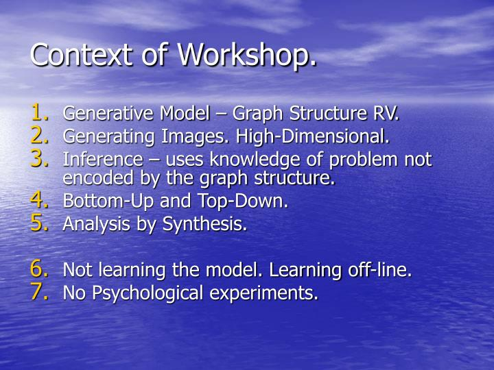 Context of workshop