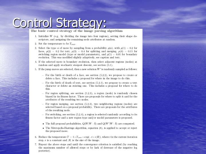 Control Strategy: