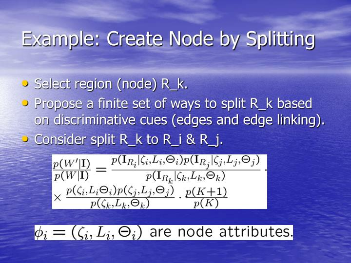 Example: Create Node by Splitting