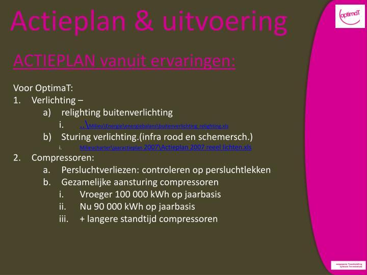 Actieplan & uitvoering