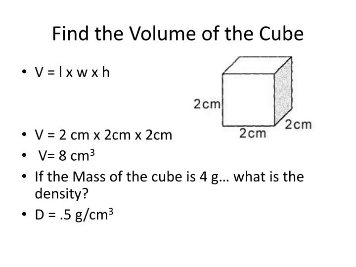 Find the Volume of the Cube