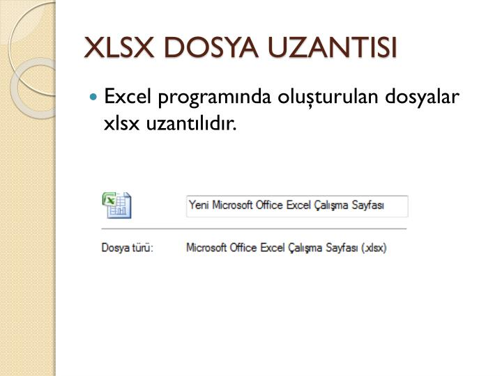 XLSX DOSYA UZANTISI